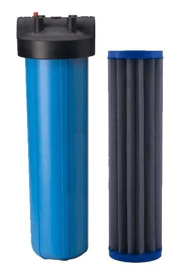 Filtro-Big-blue-20-Polegadas-com-refil-plissado-Inox-50-micra-tela-tripla